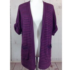 Silence + Noise Urban Purple Cardigan Sweater